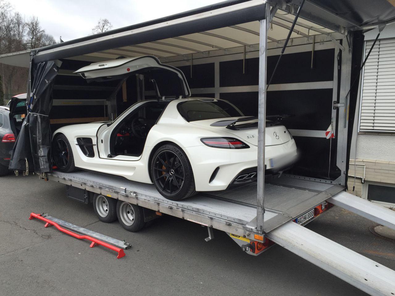 Mercedes Sls Amg Black Series geschlosserner Transport Sportwagen