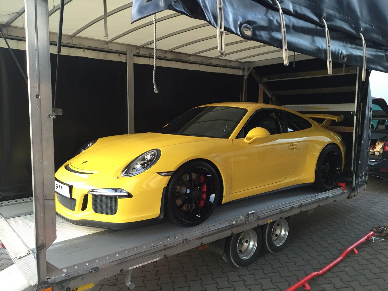 Porsche 991 GT3 geschlossener Transport ECT Exklusiv